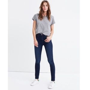 Madewell Cropped High-Rise Skinny Jeans Hayes Wash